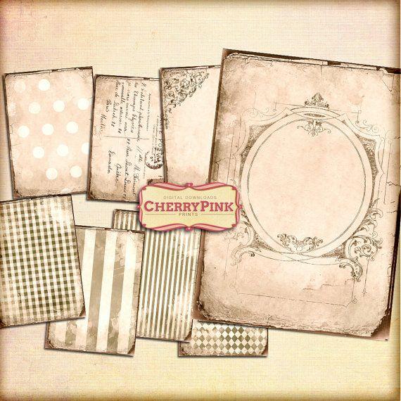 ANTIQUE BACKGROUND digital collage sheet digital paper