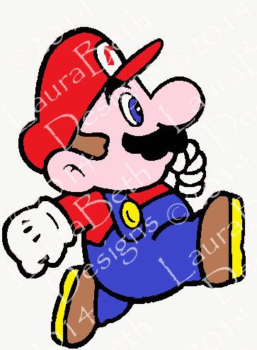 Mario 2 Digital Design Minimalist Art - Embroidery Designs INSTANT DOWNLOAD ~ 4x4, 5x7 and 6x10 Sizes dst, pes, exp, saf, hus, vip, xxx, jef by LauraBethDesignsLLC on Etsy