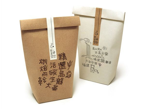 Chinese packaging designTea Packaging, Chine Teas, Paper Bags, Chinese Packaging, Packaging Design, Teas Packaging, Beautiful Packaging, Teas Art, Chine Packaging