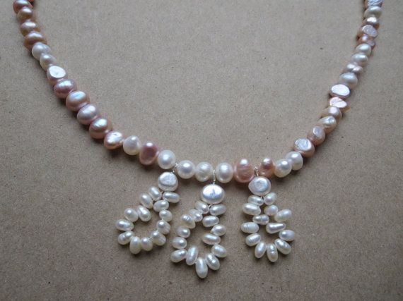 Classic Freshwater Pearl Necklace Pearl Pendant by KBrownJewellery, £48.00 www.kbrownjewellery.etsy.com