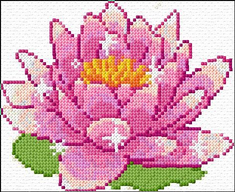 Great for quits also - one square on here is one square on the quilt Cross Stitch | Lotus xstitch Chart | Design