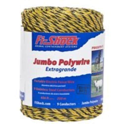 Fi-Shock PW656Y9-FS Electric Fence Jumbo Polywire, 656', Yellow