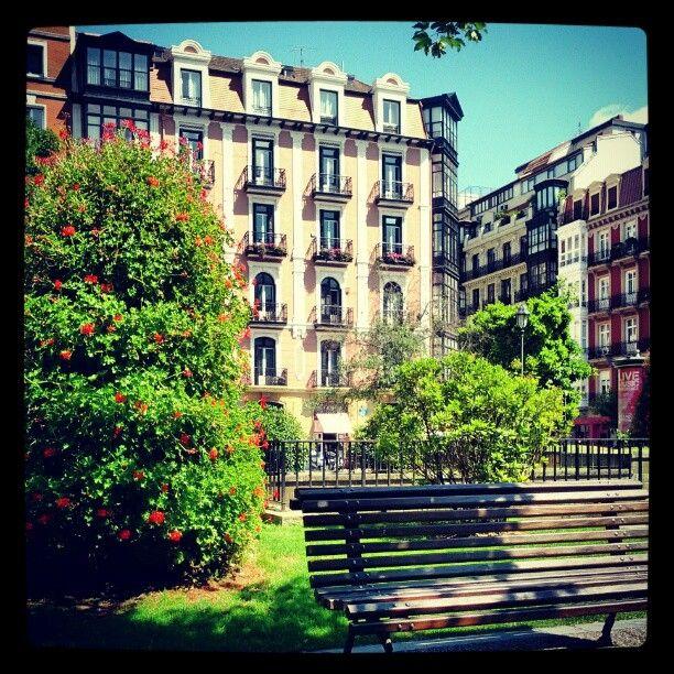 Plaza del Ensanche en Bilbao, País Vasco