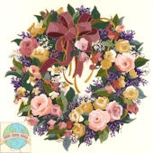 Dimensões - coroa de rosas: Needlepoint Kits, Embroidery Kits, Dimen Wreaths, Embroidery Design, Needlecraft Crewel, Dimen Needlecraft, Roses Crewel, Crewel Embroidery, Crosses Stitches