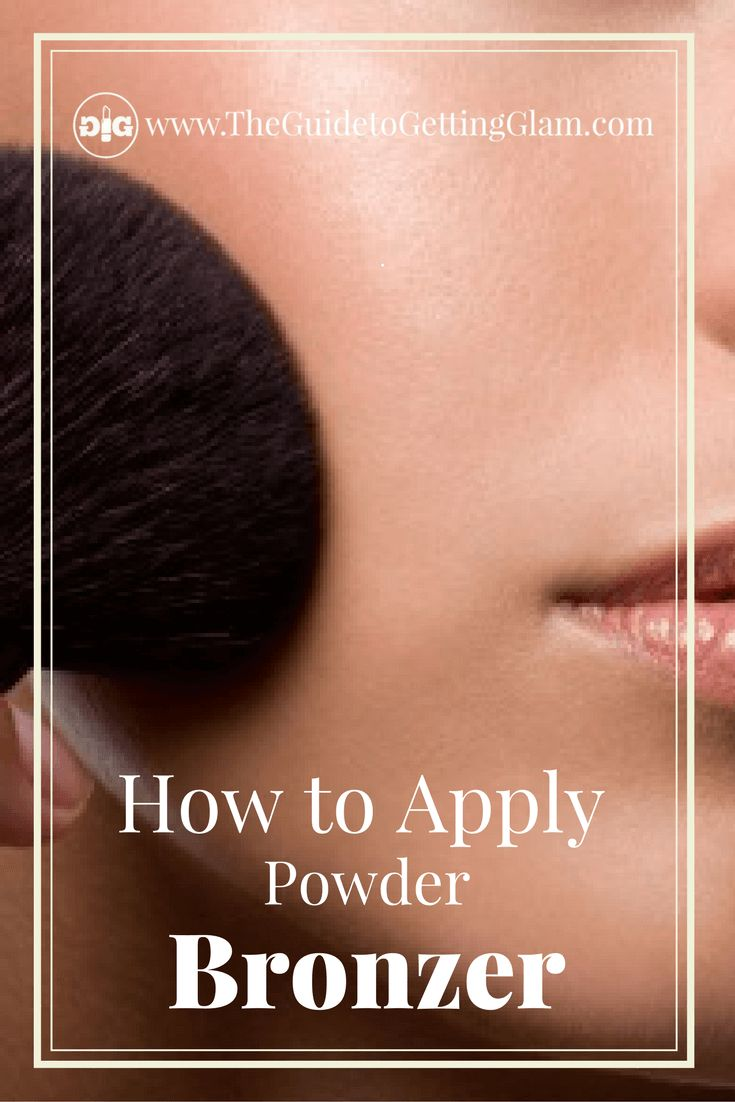 What is the best way to apply powder bronzer? Click to read great makeup artist tips on how to apply powder bronzer for the most natural look. #makeup #makeuptip #makeupartist #bronzer #glam #theguidetogettingglam