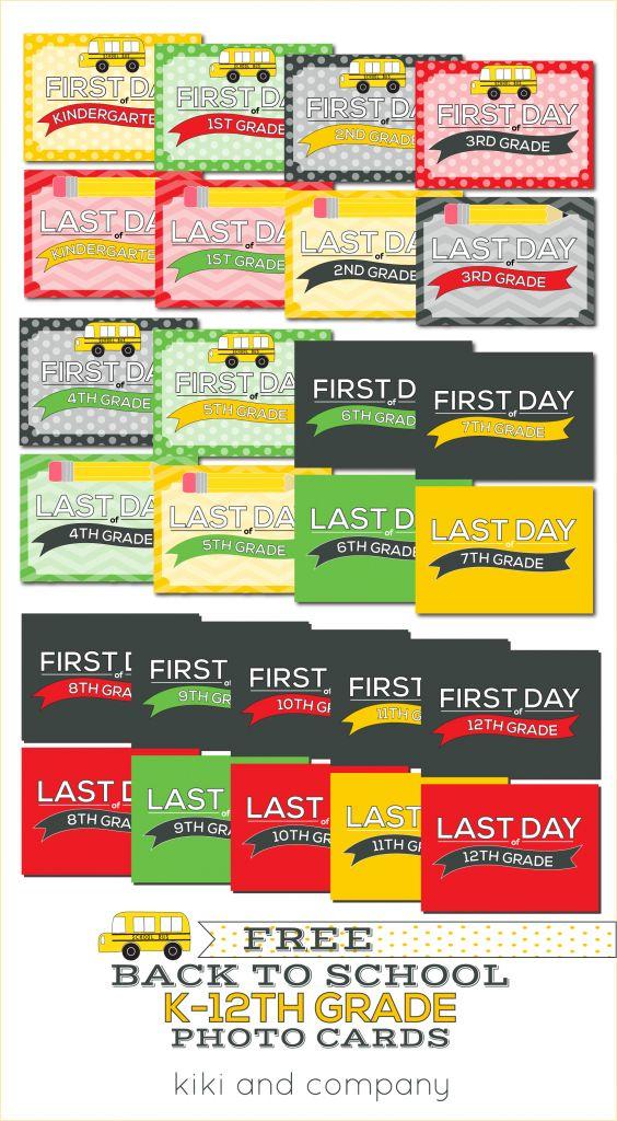 Printable Back to School Photo Signs for Kindergarten through 12th Grade! {Free Printable}