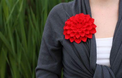Felt Dahlia Flower