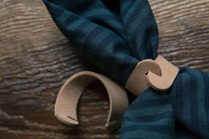 DIY leather napkin rings
