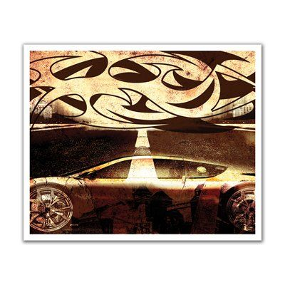 JP London POS2111 Tribal Wheels Street Racing Tattoo Peel and Stick Removable Wall Decal Mural