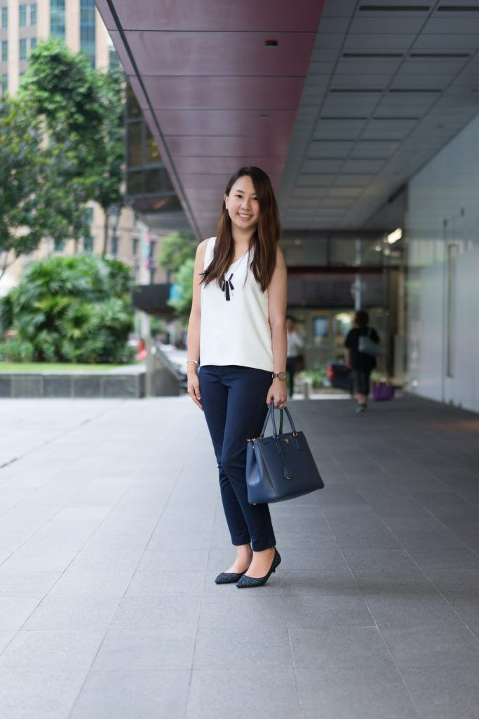 SHENTONISTA: In A New World. Rachel, Entrepreneur. Pants from Gap, Bag from Prada, Watch from Bering, Bracelet from Pandora. #shentonista #theuniform #singapore #fashion #streetystyle #style #ootd #sgootd #ootdsg #wiwt #popular #people #male #female #womenswear #menswear #sgstyle #cbd #Gap #Prada #Bering #Pandora