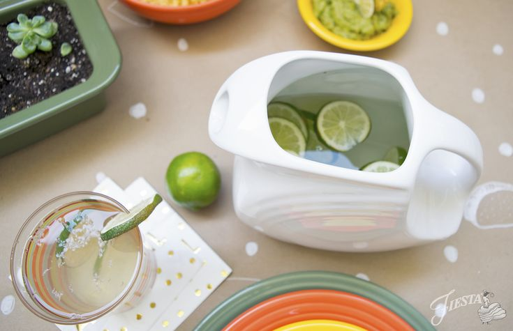 A Taco Tuesday Fiesta: a Fiesta® Disc Pitcher of Margaritas | Fiesta Dinnerware, Always Festive