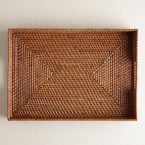 One of my favorite discoveries at WorldMarket.com: Rattan Tray, Honey
