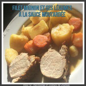 FIlet mignon moutardé et ses pommes de terre carottes au cookeo ou cocotte minute