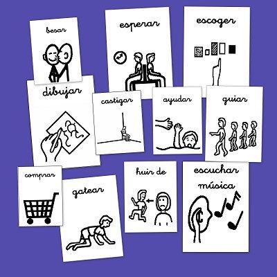 Pictogramas para trabajar con niños con dificultades