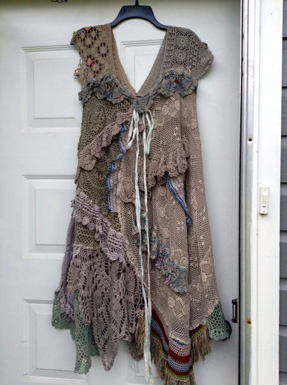 Luv Lucy Shadow Dancer Crochet Dress boho by LuvLucyArtToWear, $375.00