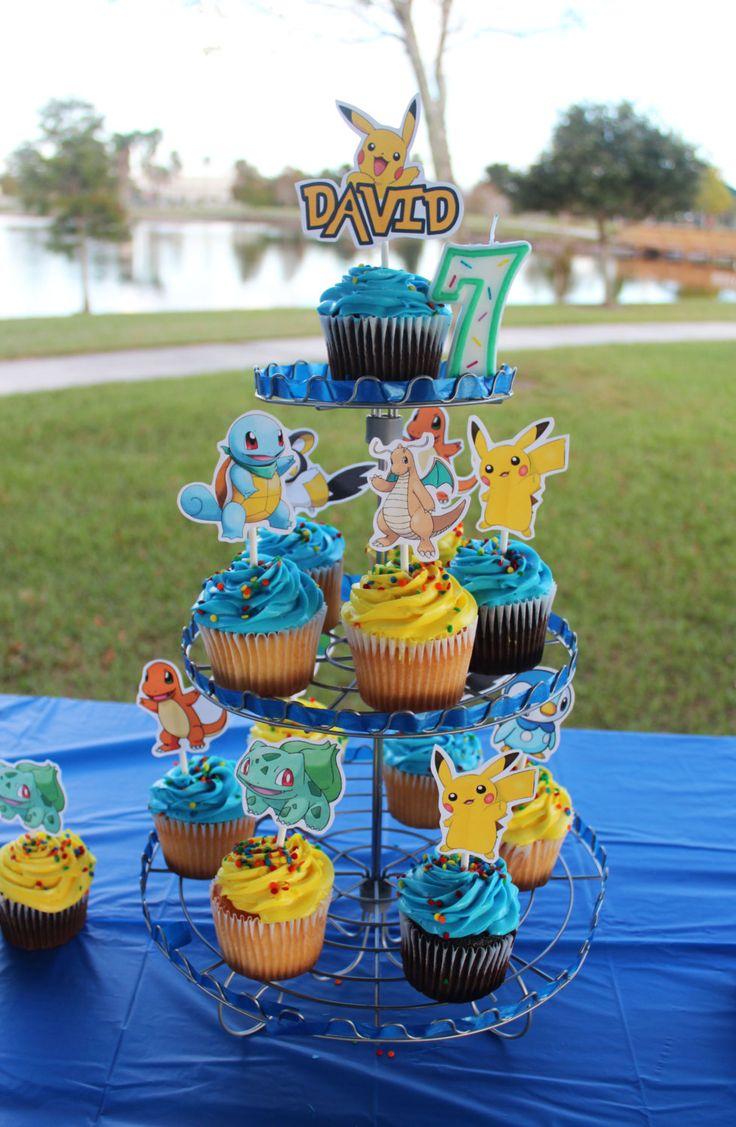 Pokemon Cupcake Toppers - Set of 12 - Pokemon Party by CreativePartiesandU on Etsy