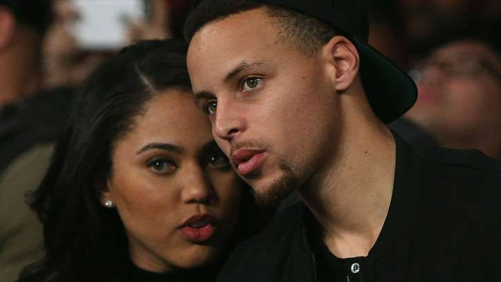 Ayesha Curry, left, and Stephen Curry