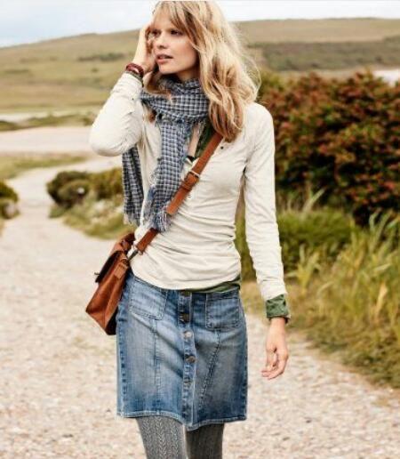Best 20  Denim skirt outfits ideas on Pinterest   Denim skirt ...