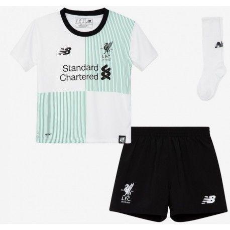 Ensemble Liverpool Enfant 2017/2018 Extérieur Officiel. Flocages Personnalisés Disponibles.