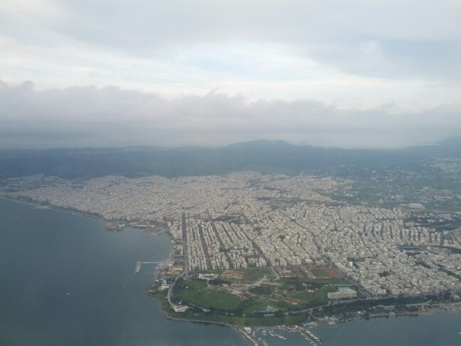 Panoramic view of Thessaloniki.
