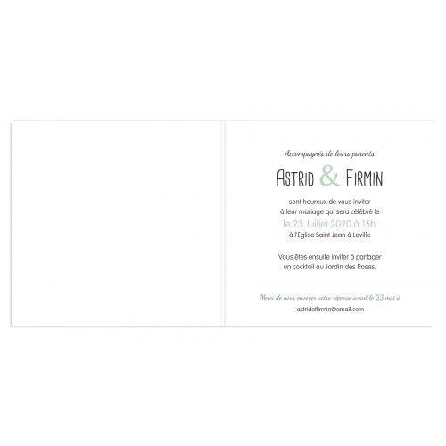 Faire-part Mariage Personnalisés - Banderole et guirlande 24693