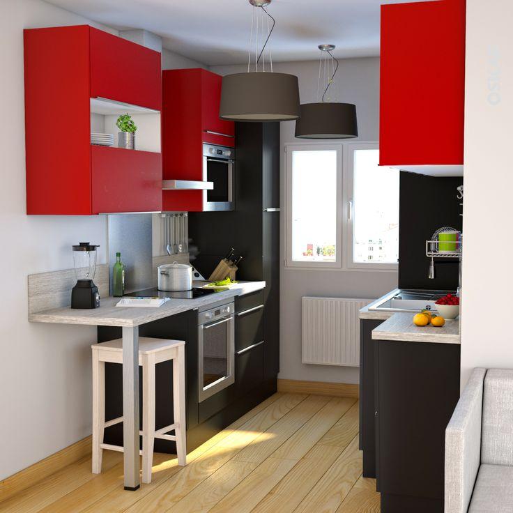 Rouge sur Pinterest  Peinture Mur Cuisine, Meuble Pin et Cuisine