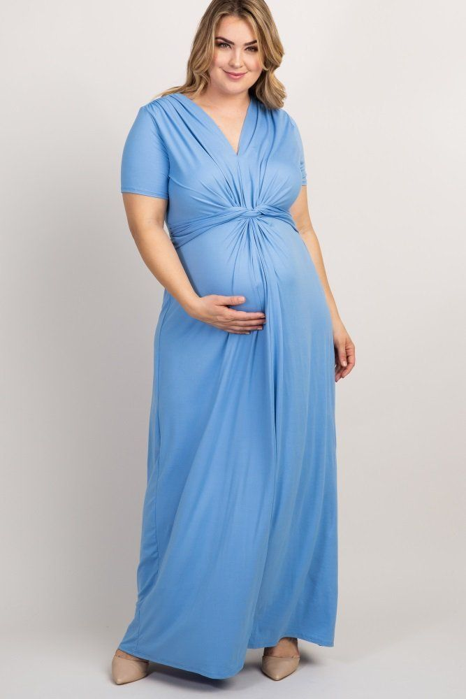 4be3f4566 Plus Size Maternity Dresses for Baby Shower - Maxi Styles -