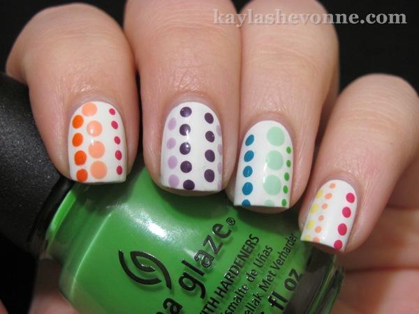 : Idea, Hands, Dotted Nailart, Nails Dots, Dots Nails, Mixed Dots, Nail Art