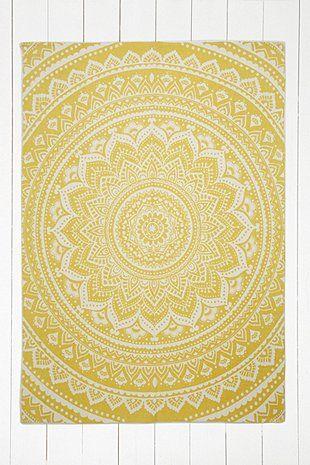 Sahara Medallion 5x7 Yellow Rug