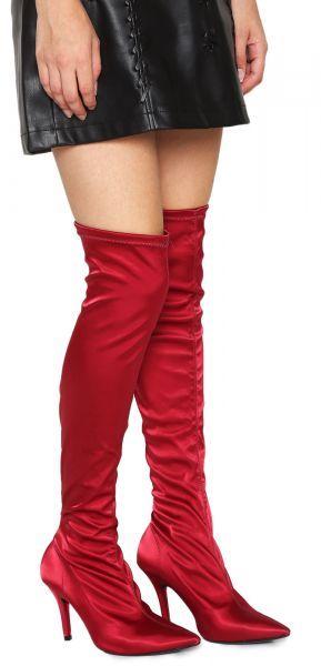 11cf79d4fd Bota Meia Over The Knee Vizzano Cetim Vinho Vizzano - Detalhes do produto Bota  Meia Over