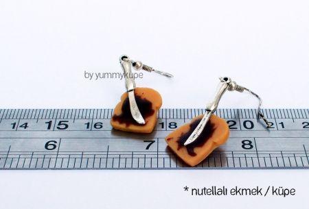 Nutellalı Ekmek / küpe   #fashion #design #miniature #food #art #miniaturefoodart #polymerclay #clay #minyatur #polimerkil #kil #nutella #tasarim #taki #sanat #moda #sokak #tutorial #yummykupe #mold #kalip #nasil #bileklik #kolye #kupe #yuzuk #aksesuar #kadin #ring #earring #accesorie #necklace