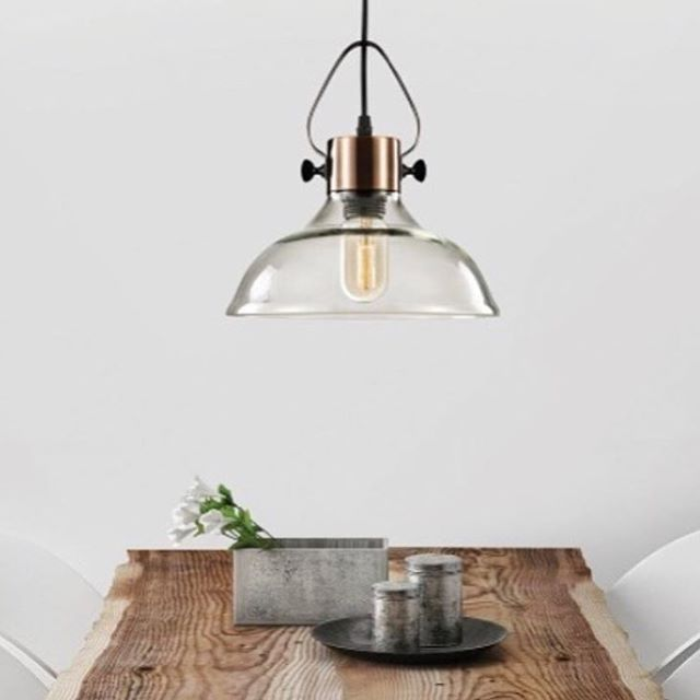 Nothing beats that old-school style. Bring a nostalgic charm to your kitchen or bathroom @cromptonau online now at The Blue Space. Suitable for ambient, accent and task lighting, the Smoky Glass Cast Large Pendant, $99 is available online now for your home renovation.