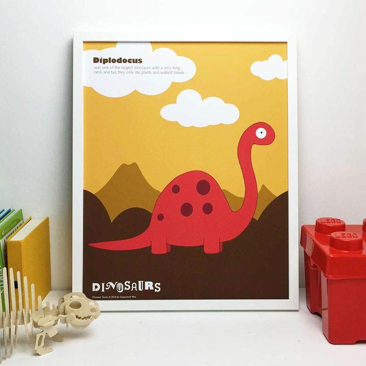 Diplodocus Dinosaur Print & Dino Colouring In Sheet