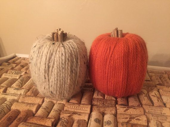 Yarn & Twig Pumpkins by SunflowerReCreations on Etsy