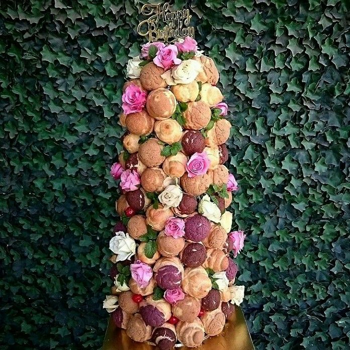 A Beautiful Croqumbouche Tower for Birthday