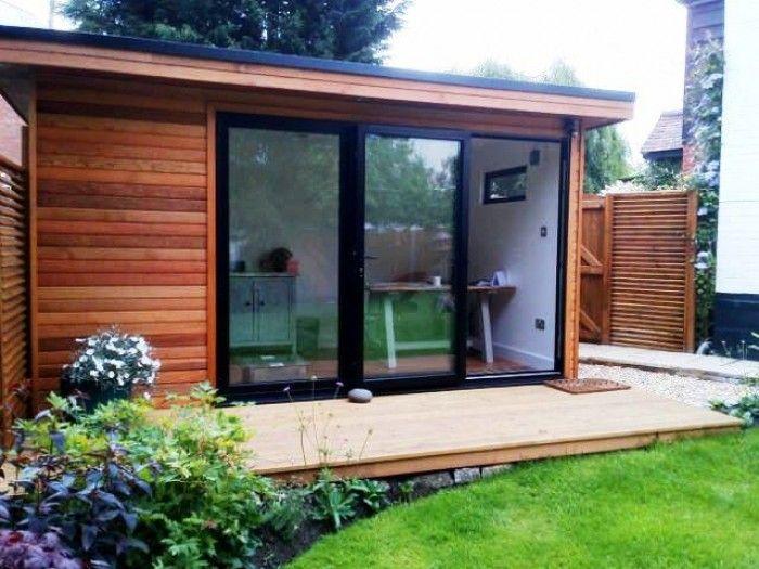4mx2.4m Garden Office (3m Aluminium Bi-Folds)