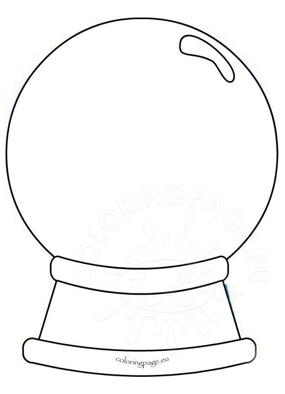 Printable Snow Globe Coloring Page Sketch Coloring Page