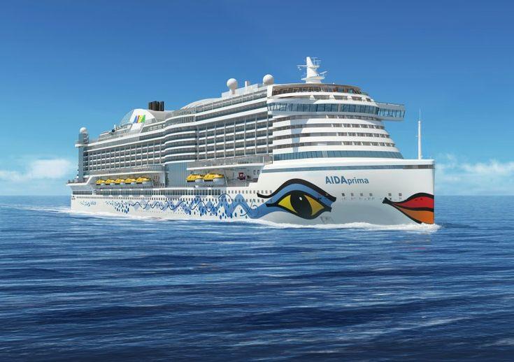 """""""Aida Prima"""": Das neue Schiff von Aida Cruises wird im Sommer 2015 getauft. Mit..."""