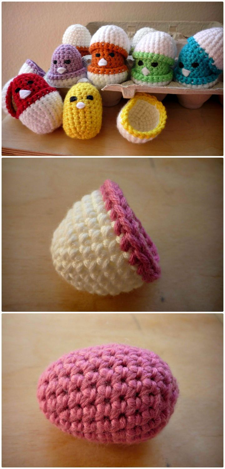 Baby Chicks In Eggshell Crochet Pattern - 27 Free Crochet Bird Patterns You'll Love - DIY & Crafts