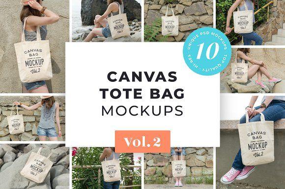 Download Canvas Tote Bag Mockups Pack Vol 2 Bag Mockup Design Mockup Free Free Packaging Mockup