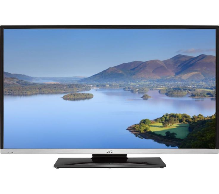 "JVC  LT-40C755 Smart 40"" LED TV with Built-in DVD Player +  SFLEZ14 Medium to Large Fixed TV Bracket"