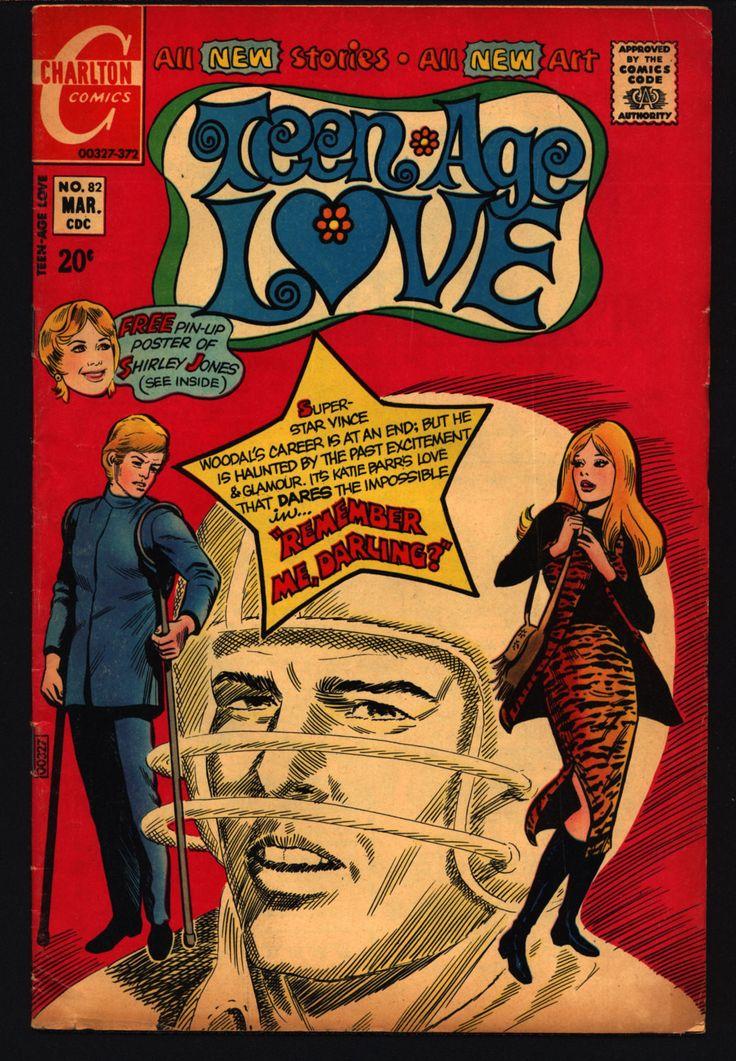 Teen-Age LOVE #75 1972 Partridge Family Shirley Jones pin-up Football & Fashion ROMANCE Comics Tear Jerker Soap Opera Charlton Comic