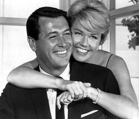 Rock and Doris ~ Rock Hudson had expected to be cast as Philip in That Touch of Mink, but director Delbert Mann wanted Cary Grant.