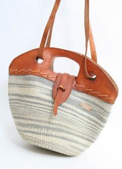 African 3-in-1 Hand Bag with Leather Strap