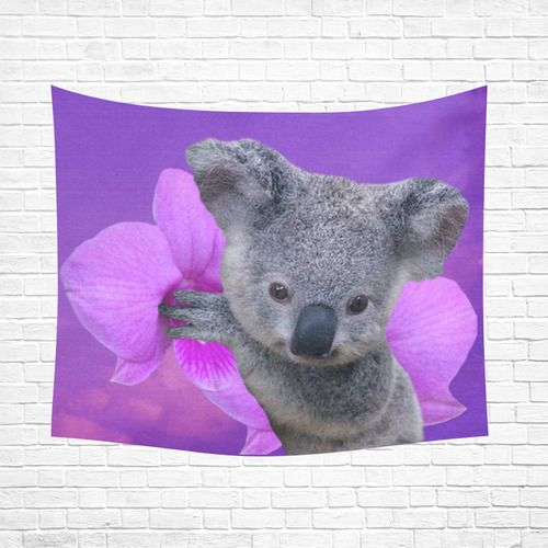 "Koala Cotton Linen Wall Tapestry 60""x 51"""