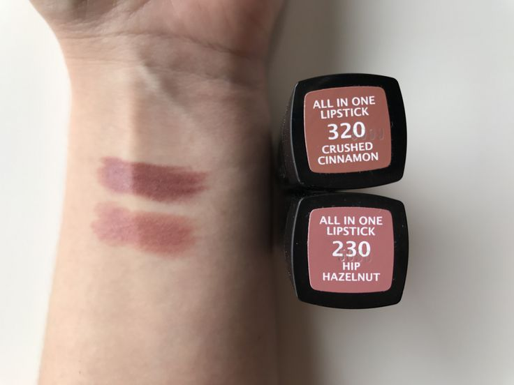 Manhattan Lippenstift Swatch Crushed Cinnamon Hip Hazelnut All in one Lipstick