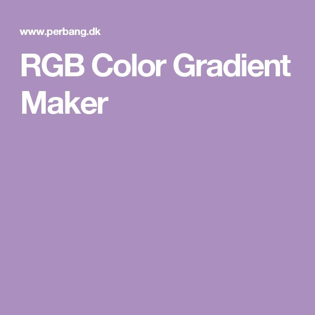 rgb color gradient maker