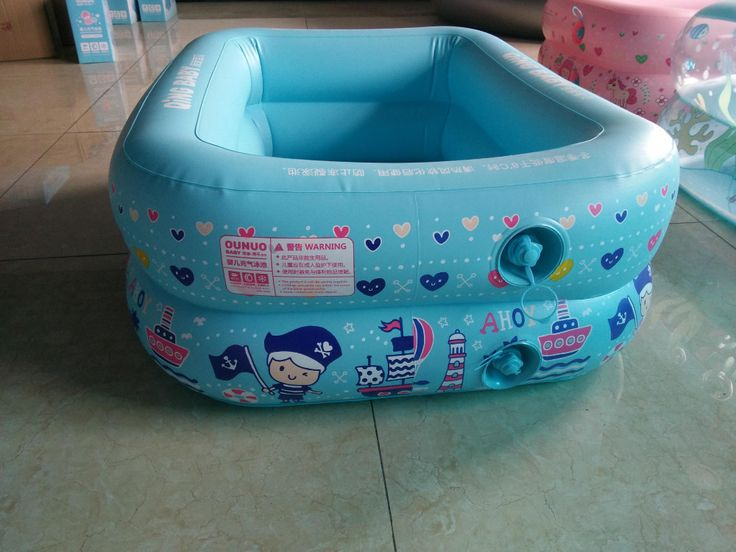Rectangle 110*90*40cm Eco-friendly PVC Thicken Inflatable Baby paddling pool Colorful Ocean balls pool #Affiliate