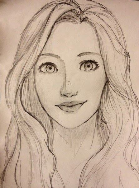 Search Result For Easy Portrait Drawing Easy Portrait Drawing Simple Face Drawing Girl Face Drawing