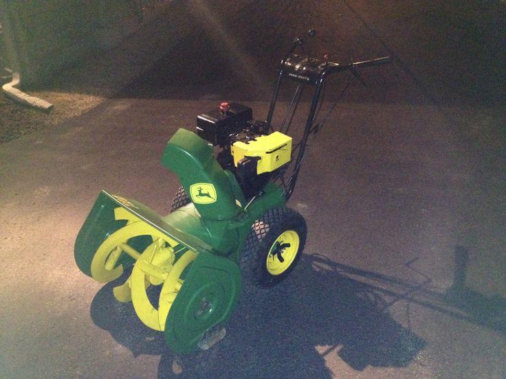 John Deere 726 snowblower  #johndeeregreen